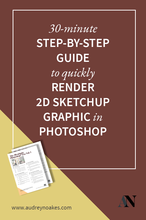 How to render a 2D graphic from Sketchup with Photoshop