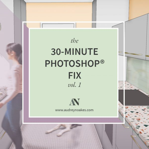 A quick Photoshop rendering tutorial of a small kitchen modelled in Sketchup. - Audrey Noakes
