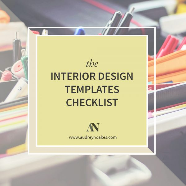 The Interior Design Templates Checklist Audrey Noakes