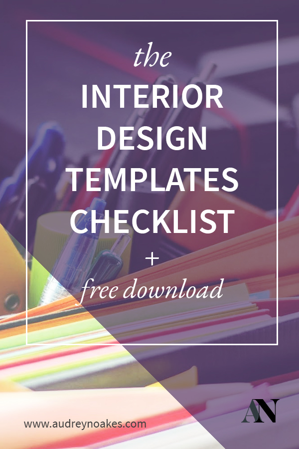 Interior Design Templates Checklist