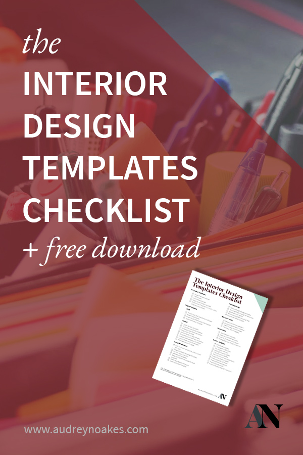 Free Download - Interior Design Templates Checklist