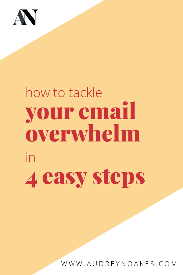 how to tackle your email overwhelm in 4 easty steps to help you organize and automate your email processes