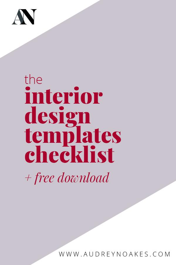 The Interior Design Templates Checklist Audrey Noakes