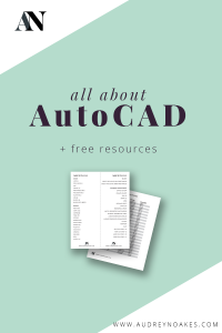 This month is all about AutoCAD on the blog. Click here to see the full month of blog posts and resources.