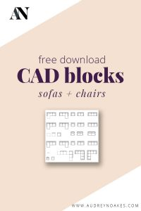 Click for a free dwg download of CAD blocks for sofas and chairs