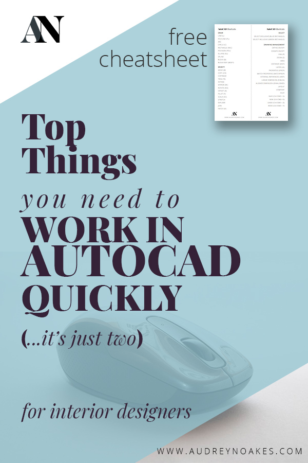 What are two things you need to work quickly in AutoCAD. Well, there's actually just two. Check out this blog post for a free AutoCAD commands cheatsheet.