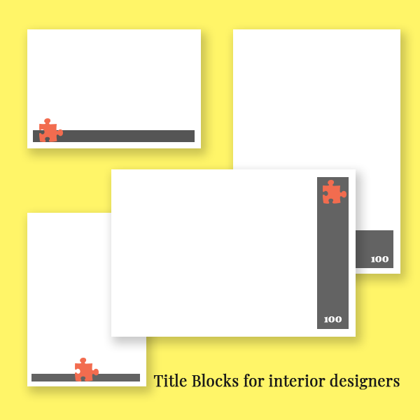 Options for logo location for title blocks for interior designers