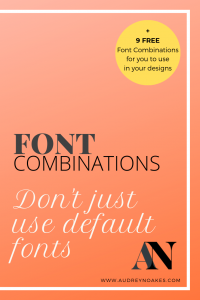 Font Combinations! There are fun fonts, serious fonts, casual fonts, sleek fonts, retro fonts, etc. Typography dominates our experience of the world in a way that we can't fully appreciate until we start thinking about it seriously when we're wanting a specific reaction from someone. That's why choosing a font for your brand or your design presentations is so important. Your choice of font will have an impact on how your client views the design(s) you're presenting. Therefore, choose a font or two that's going to influence the reaction you're looking for.