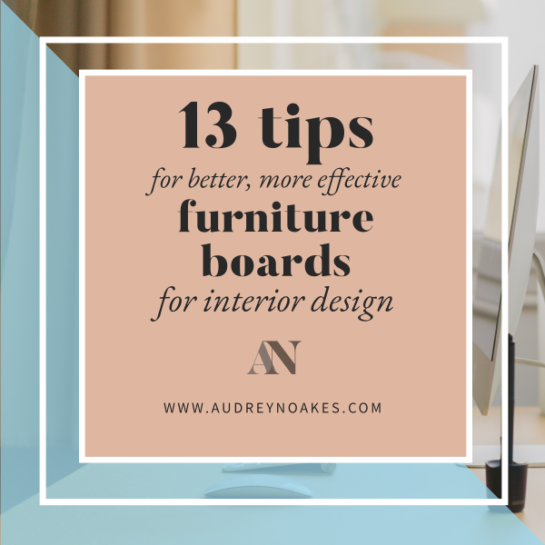 featured image for 13 tips for better more effective furniture boards for interior design blog post