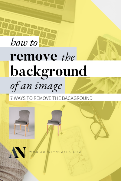 How to remove the background from an image