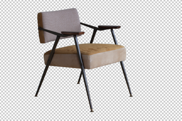 background removed from chair 2 via lasso tool