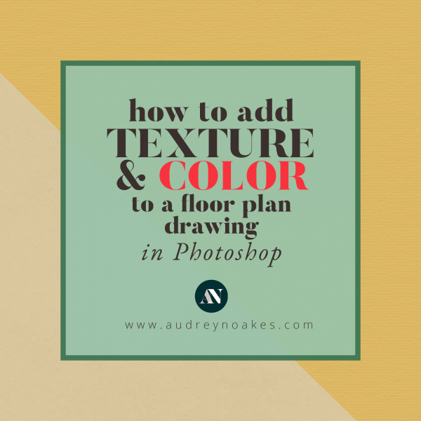 How to add color and texture to a floor plan drawing in Photoshop