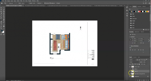 screenshot of final rendered floor plan with final touches